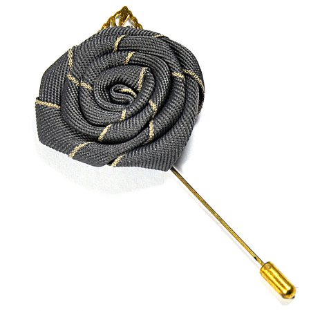 Grey Flower & Patel Lapel Pin