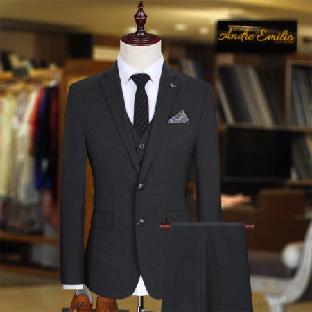 Customize Black Kings Suit with V-Shape Waistcoat