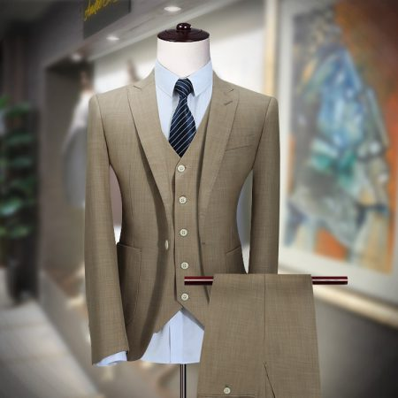Elegant Customized 3PCs Olive Suit by Andre Emilio