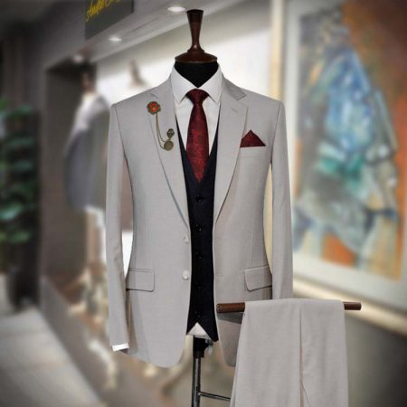 Buy Elegant 3 Piece Ready to Wear Suit by Andre Emilio