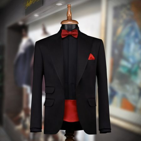 Super 120s Jet Black Tuxedo for Men