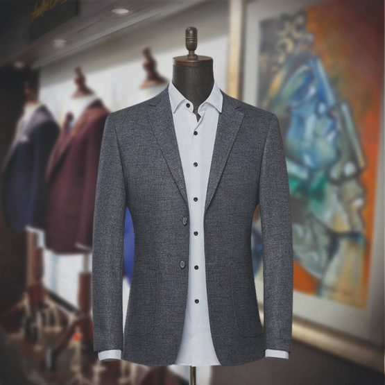 Customize Texture Gray Blazer for Men