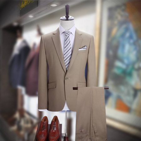 Buy Camel Color 2 Piece Suit for Men