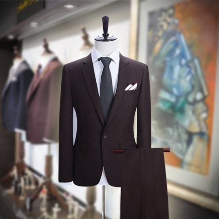 Customize 2 Piece Maroon Suit for Men
