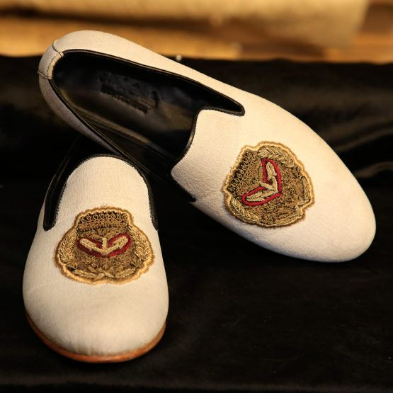 White Loafers Crest